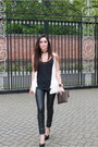 Black-topshop-unique-pants-black-ysl-heels-black-versus-top-white-vest