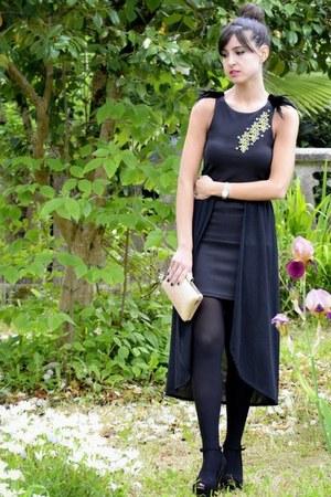 maroon DIY dress - Bershka shoes - Mary Paz bag