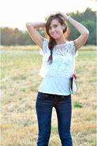 Bersh t-shirt - SUIT jeans - prim bag - Zara earrings
