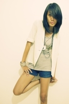 blazer - Forever21 shirt - shorts - Forever21 accessories