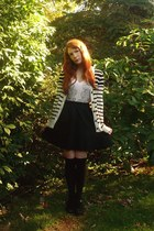 black modcloth socks - black Target skirt - light pink modcloth t-shirt