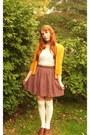 Off-white-modcloth-socks-brick-red-target-skirt-tawny-target-belt