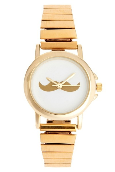 gold mustache DIDD watch
