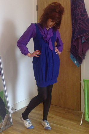 H&M dress - mint shirt - M&S tights - new look shoes