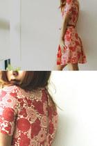 red vinage dress
