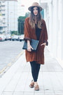 Burnt-orange-vintage-coat-camel-zara-hat