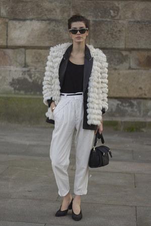 vintage jacket - Parfois bag - vintage sunglasses - vintage flats