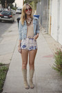 Lace-up-vintage-boots-denim-vintage-jacket-diy-shorts-nude-american-appare