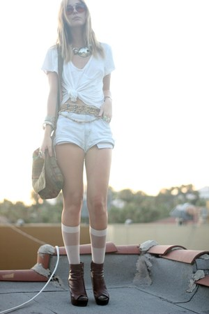 American Apparel socks - Steve Madden boots - Anthropologie shirt