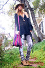 J-brand-jeans-jeffrey-campbell-boots-vintage-sweater-urban-outfitters-hat-