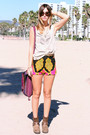 Diy-vintage-shorts-diy-handmade-shirt-harley-davidson-boots-oscar-de-la-re