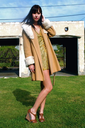 vintage coat - vintage socks - Anthropologie shoes