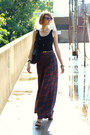 Maroon-palazzo-forever-21-pants-black-studded-bag-kmrii-bag