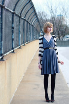 black young fabulous & broke sweater - gray drapey jersey Development dress