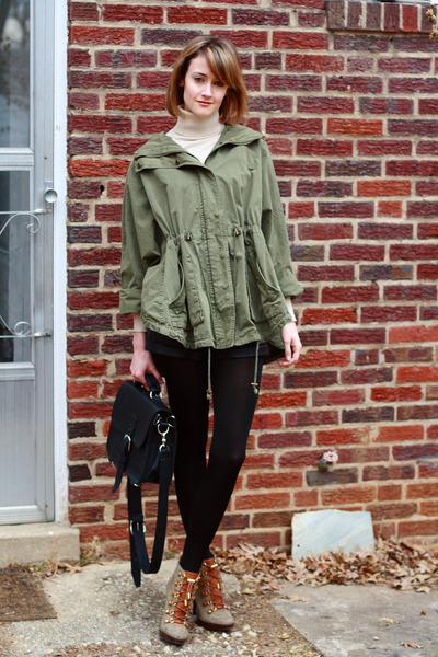 army green lace-up booties tory burch boots - beige turtleneck banana republic s
