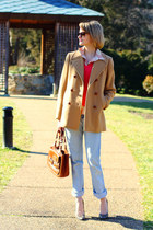 camel pea coat Brooks Brothers coat