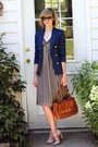 Neutral-striped-ted-baker-dress-navy-double-breasted-zara-blazer
