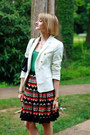 White-double-breasted-zara-blazer-black-quilted-chanel-bag-carrot-orange-stu