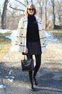 Ivory-plaid-vintage-coat-black-cardigan-zara-sweater