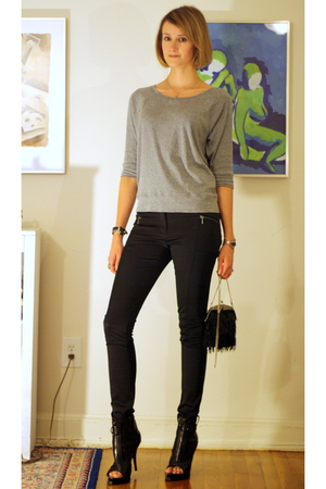 Gap top - H&M pants - Zara purse - vintage necklace - Givenchy boots - vintage b