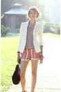 Black-studded-kmrii-bag-white-double-breasted-zara-blazer