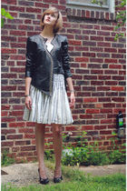 black surface to air jacket - white Anthropologie skirt - black Givenchy shoes -