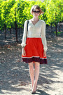 Carrot-orange-full-skirt-anthropologie-dress