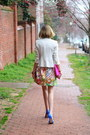 Bubble-gum-floral-zara-dress-white-fitted-zara-blazer