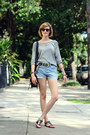 Black-shoulder-bag-saddleback-leather-bag-sky-blue-levis-shorts-chartreuse-w