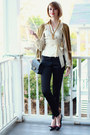 Mustard-asos-sweater-black-chanel-bag-ivory-wrap-the-limited-blouse