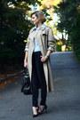 Beige-trench-coat-burberry-coat-black-gold-striped-zara-jeans-black-boyy-bag