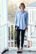 black mini Sophie Hulme bag - black faux leather Zara panties