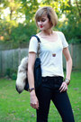 White-scoop-neck-stylemint-t-shirt-black-snakeskin-h-m-jeans