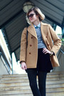 Blue-button-down-jcrew-top-camel-vintage-peacoat-brooks-brothers-coat