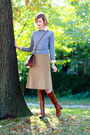 Tawny-ferragamo-boots-heather-gray-crewneck-united-colors-of-benetton-sweater