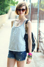 Silver-tank-top-anthropologie-top-black-studded-bag-kmrii-bag