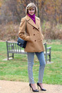 Magenta-cowlneck-vintage-sweater-camel-peacoat-vintage-brooks-brothers-coat
