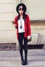 Black-h-m-hat-black-h-m-leggings-ruby-red-second-hand-cardigan