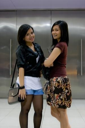black - black moms bag - h&m jeans short