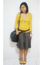 Mango blouse - tailored skirt - thrift belt - CLN shoes - Ebay accessories