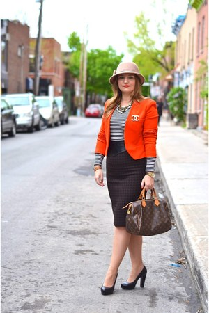 Max Mara skirt - Zara hat - Zara jacket - Louis Vuitton bag - H&M t-shirt