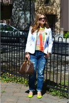 Geox pumps - Zara jeans - Zara blazer - Louis Vuitton bag - Zara t-shirt