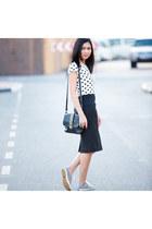 River Island top - Milano bag - Keds sneakers - Zara skirt