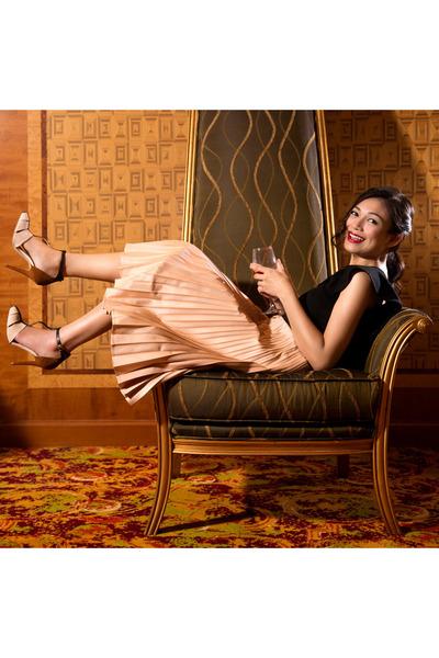 Zara skirt - Miss Selfridge top - Zara heels