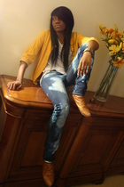 gold H&M - jeans - shirt - shoes