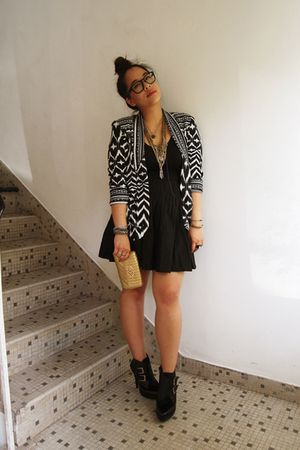 black whip it Jeffrey Campbell shoes - black H&M blazer