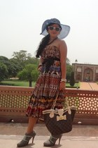 Aldo hat - Charles n Keith boots - Louis Vuitton purse - Aldo sunglasses