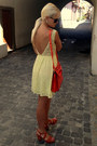Light-yellow-new-yorker-dress-carrot-orange-oasap-bag-black-gucci-sunglasses