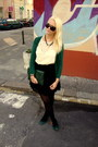Eggshell-asos-dress-forest-green-thrifted-sweater