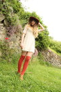 Ivory-molly-bracken-dress-carrot-orange-urban-outfitters-hat